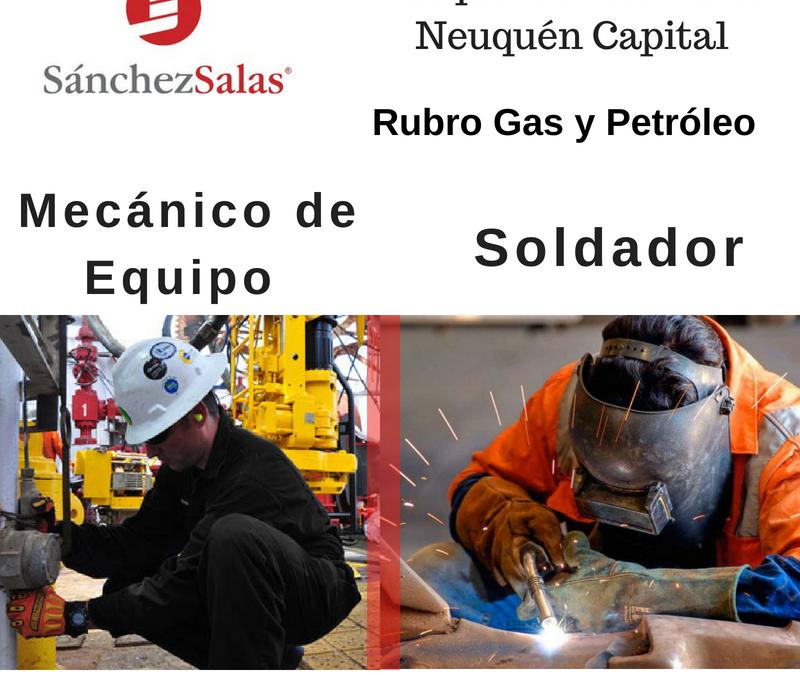 MECÁNICO DE EQUIPO – SOLDADOR (GAS Y PETRÓLEO)